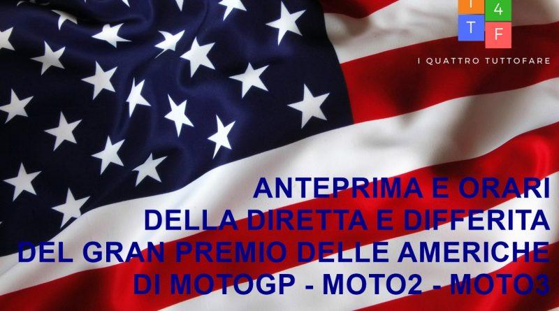 Anteprima e orari diretta e differita Gran Premio delle Americhe di MotoGP