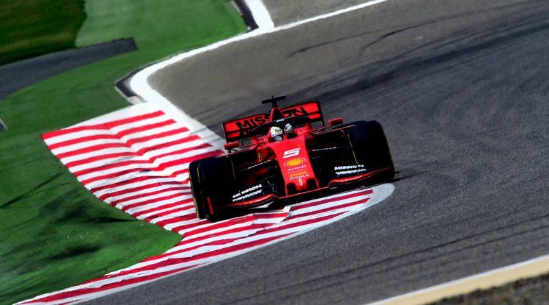 Sebastian Vettel Ferrari Test F1 Bahrain