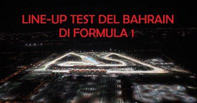 Line-up test Bahrain di Formula 1Line-up test Bahrain di Formula 1