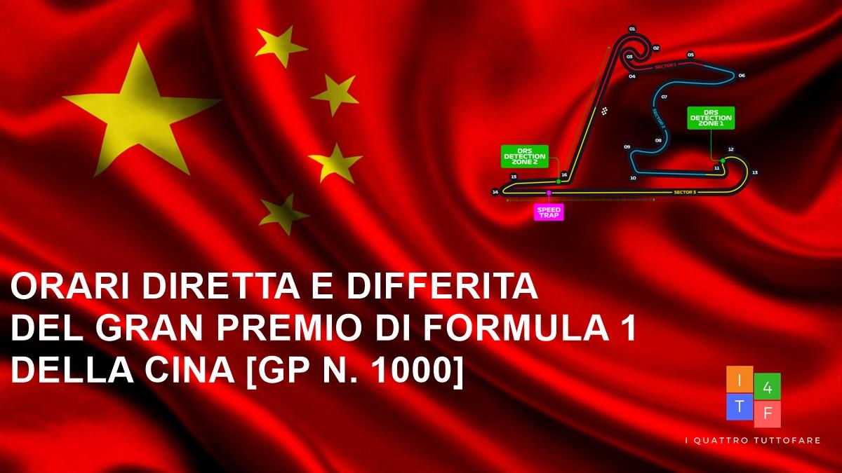 Orari dirette e differita del Gran Premio della Cina 2019