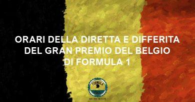 Orari Gran Premio del Belgio