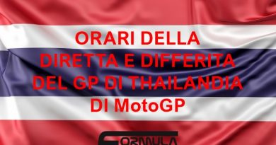 Orari GP Thailandia