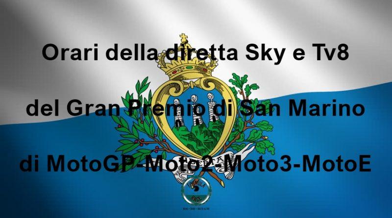 Orari Gran Premio di San Marino
