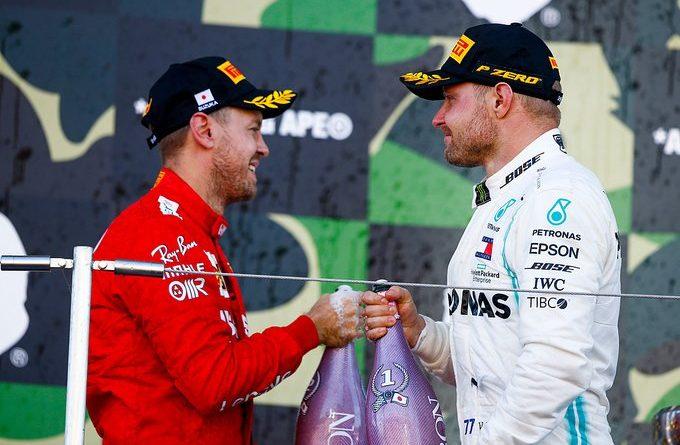GP Giappone Sebastian Vettel Valtteri Bottas